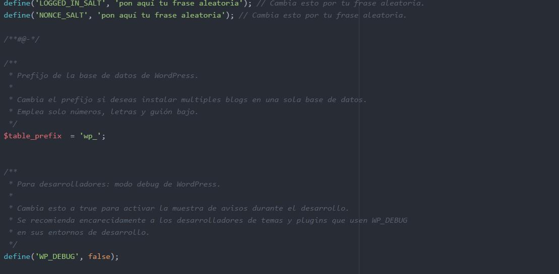 cambiar el prefijo de las tablas en wordpress
