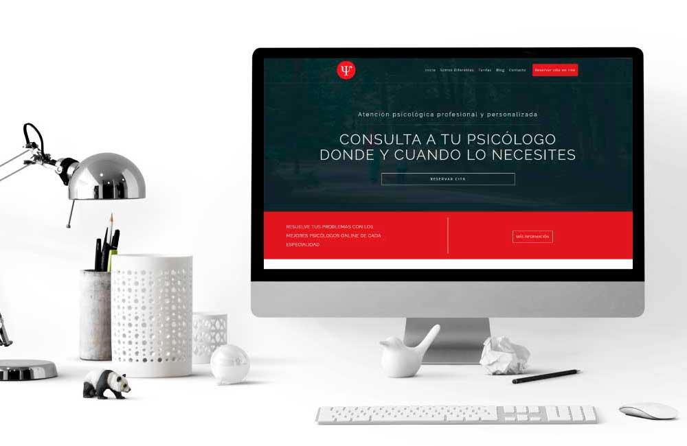 Diseño de Pagina web Mi Psicologo Reserva de Citas