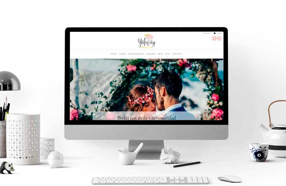 Página Web Yolevoy Bodas y Eventos