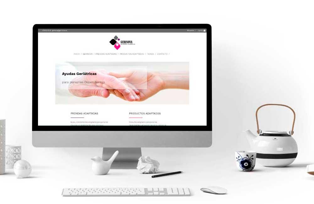 Diseño de Tienda Online Gerinova Asturias