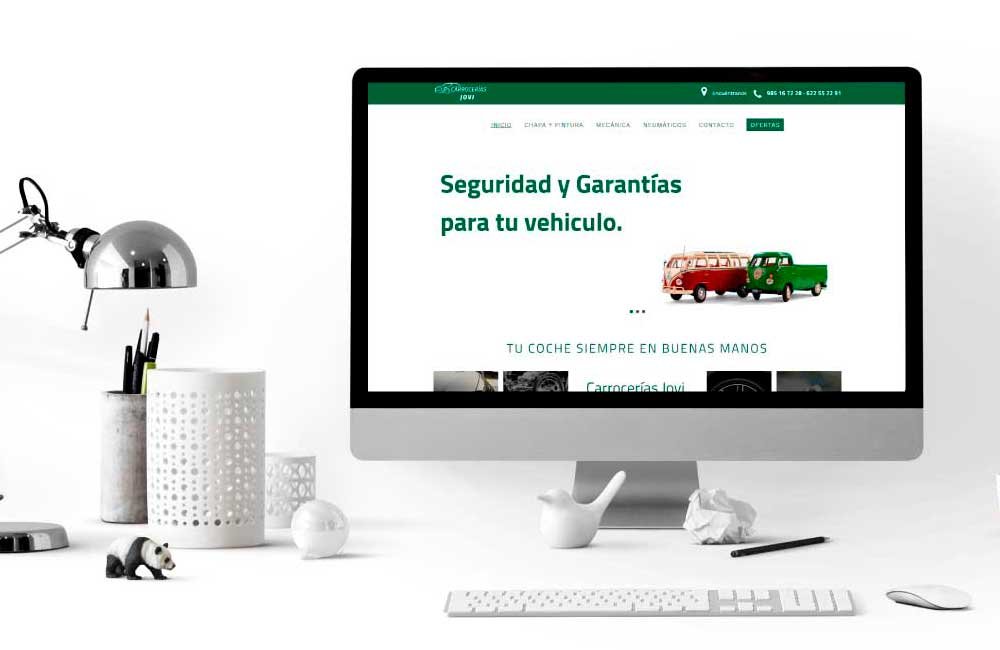 Diseño de Página Web Carrocerías jovi Gijón
