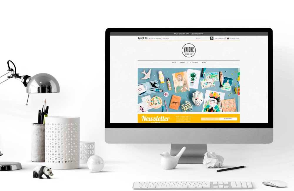 Diseño de Tienda Online a medida Vaidhé Vigo