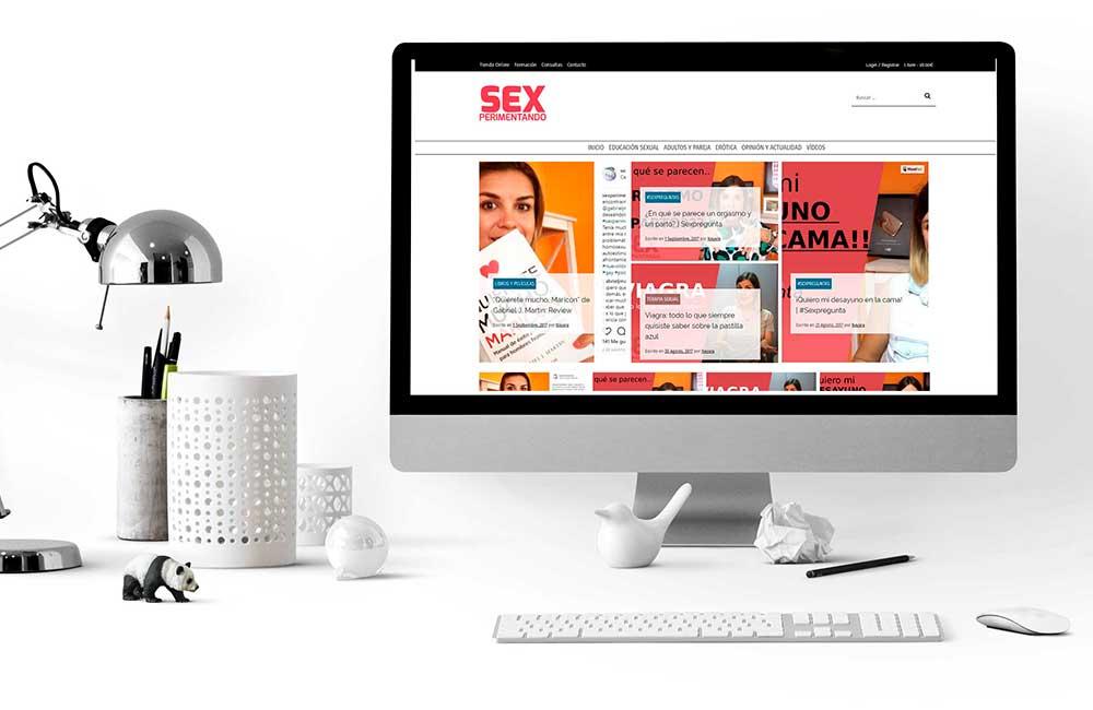 Diseño de Blog y Tienda Online Sexperimentando
