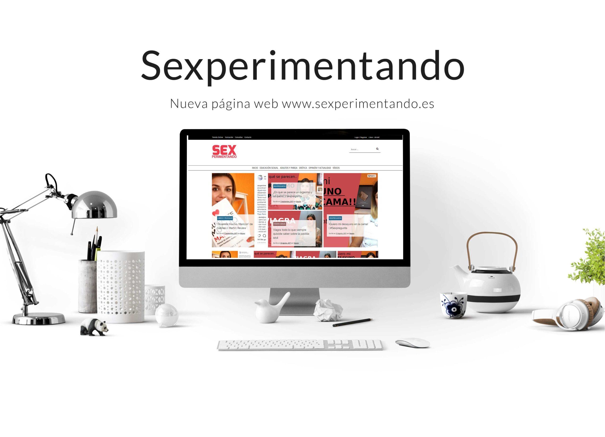 Diseño de Blog y Tienda Online Sexperimentando Gijón - Asturias
