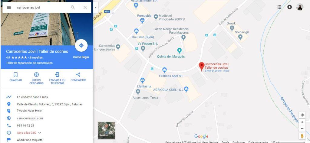 buscar empresa en google maps