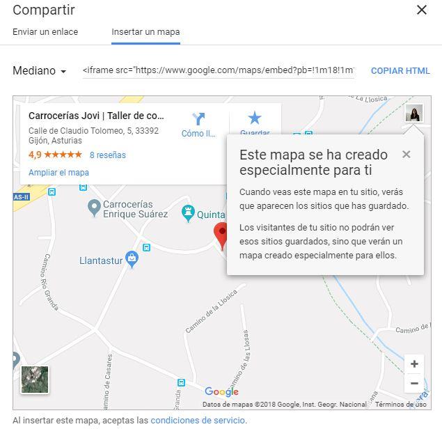 insertar mapa google maps en pagina web