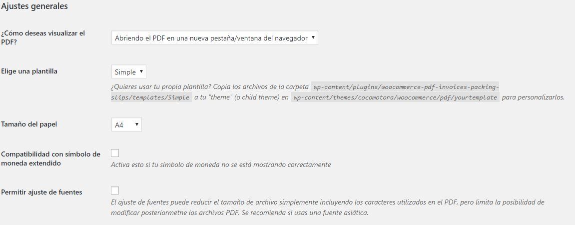 Configuracion plugin facturacion 1