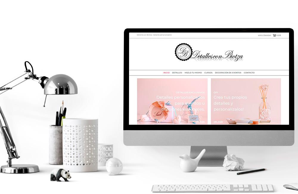 Diseño de Tienda Online Detalles con Biotza
