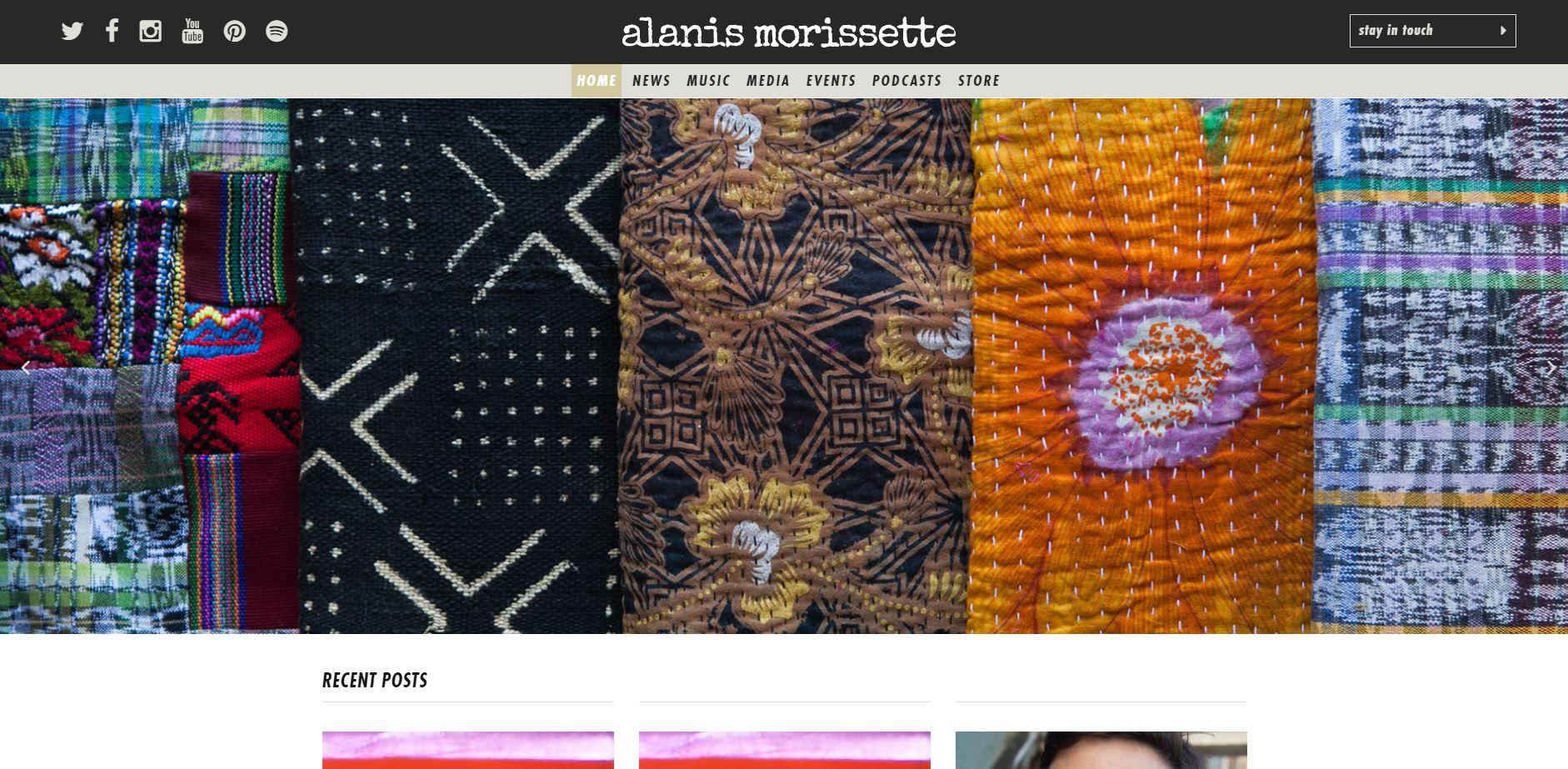 pagina web alanis morissette wordpress