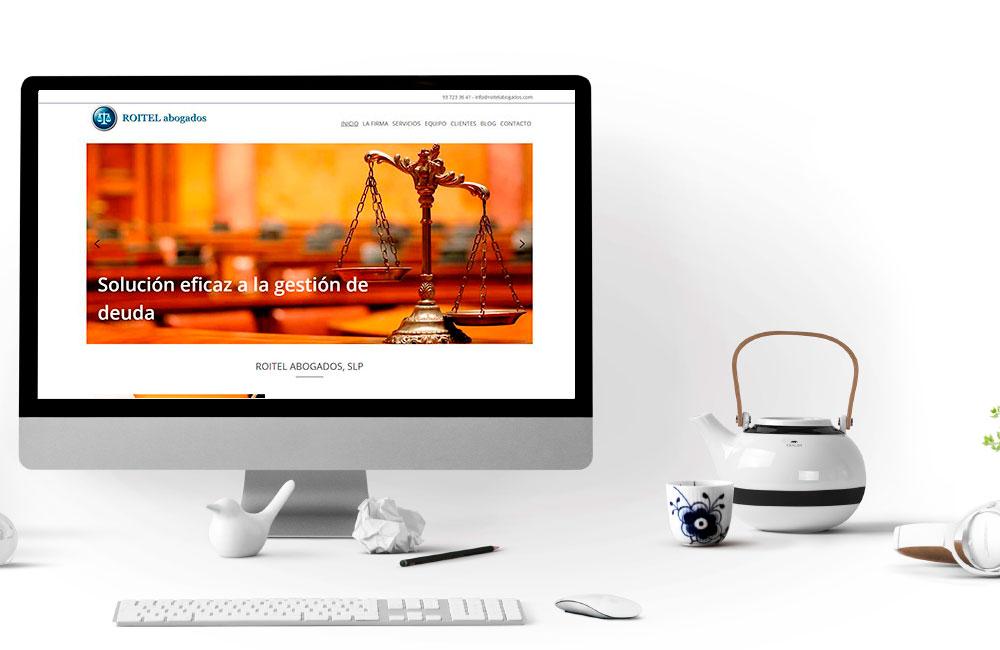 Página Web Roitel Abogados