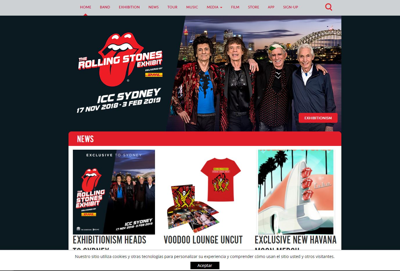 pagina web rolling stones wordpress