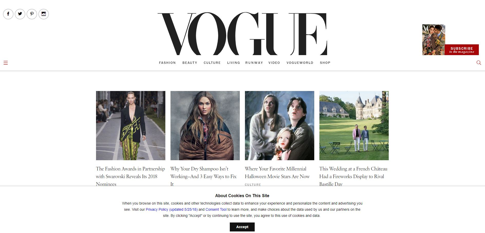 pagina web vogue wordpress