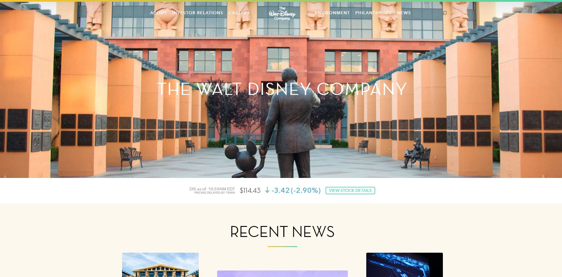 pagina web walt disney wordpress