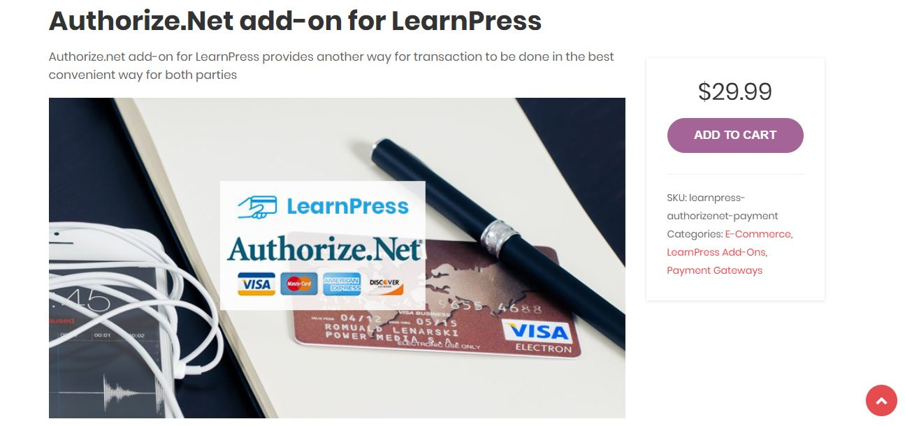 Authorize para LearnPress