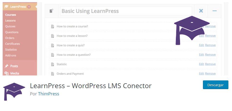 LearnPress convierte WordPress en una Plataforma de Formacion Online LMS