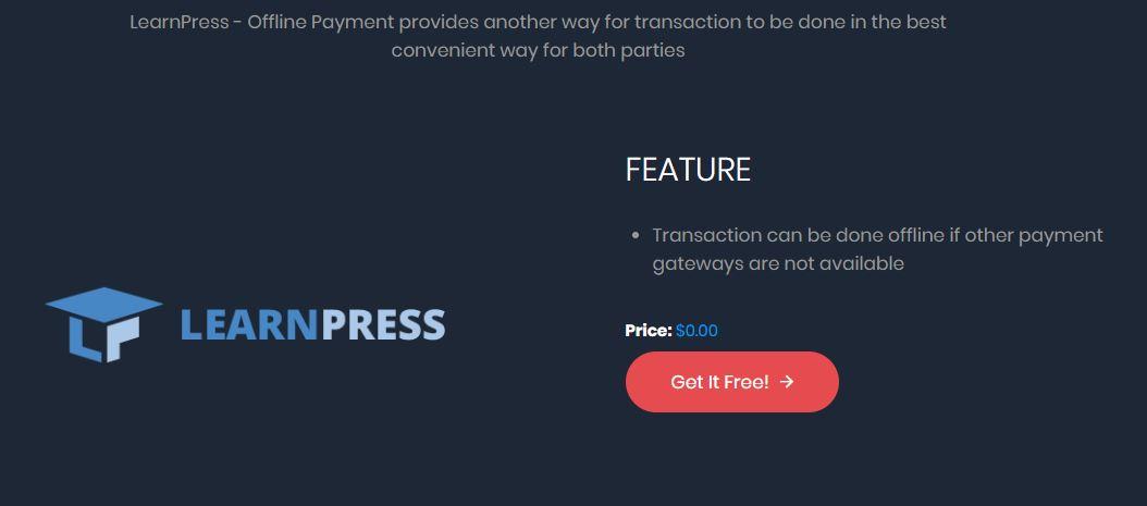 offline payment - pagos por transferencia en learnpress