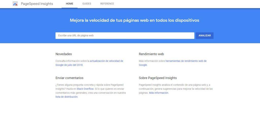 medir velocidad de carga de mi pagina web