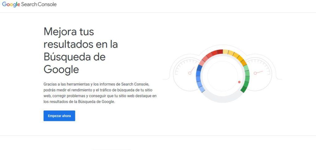 search console de google