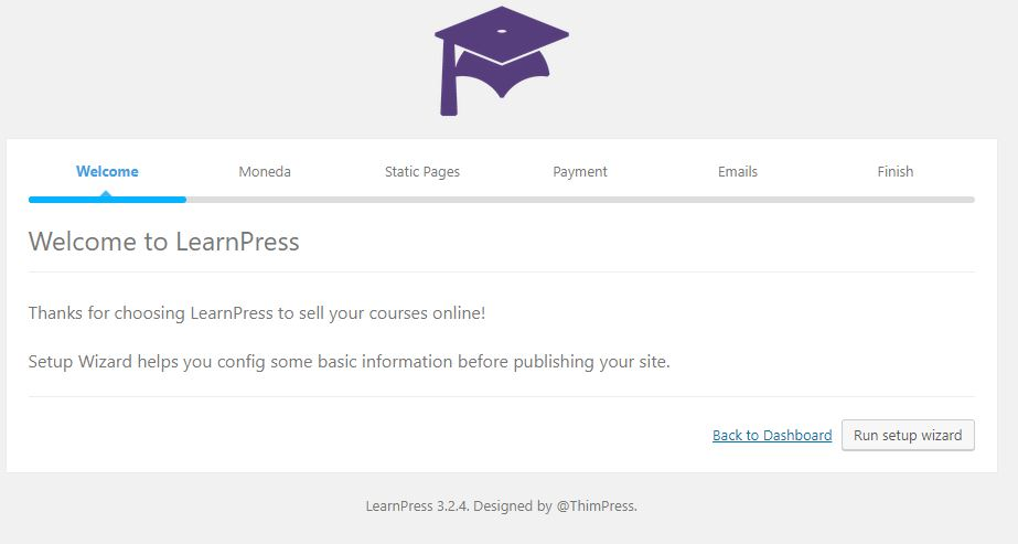 Bienvenida al instalador de learnpress