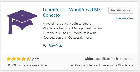 Instalacion learnpress plataforma de formacion online