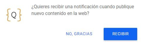 notificaciones push activas