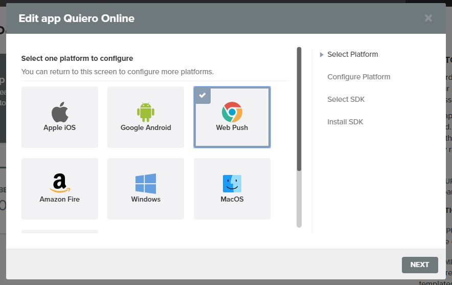 plataformas para que funciones las notificaciones push